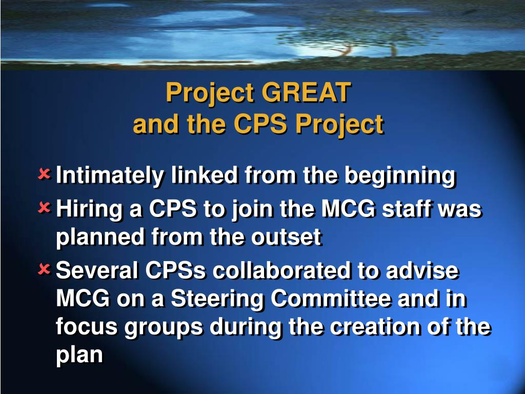 Project GREAT