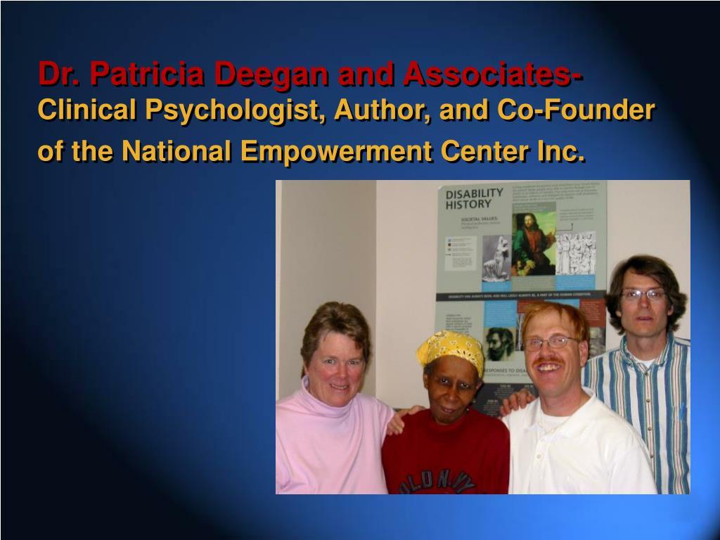 Dr. Patricia Deegan and Associates-