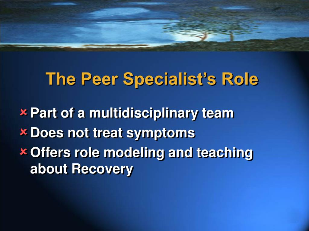 The Peer Specialist's Role