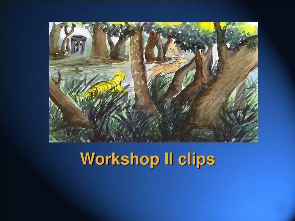 Workshop II clips