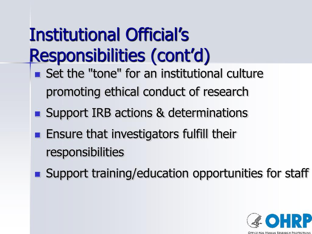 Institutional Official's