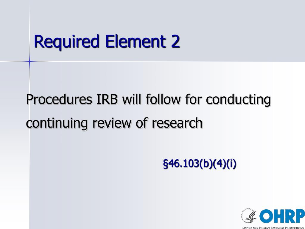 Required Element 2