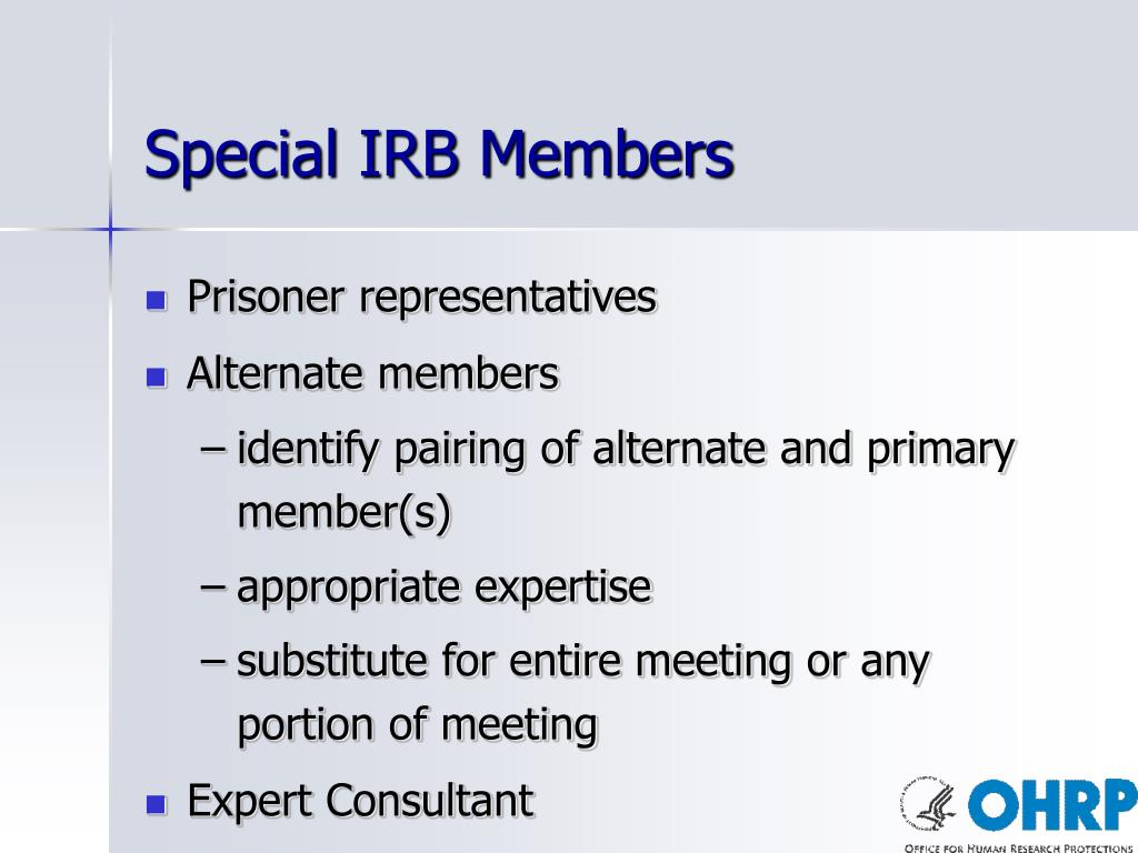 Special IRB Members
