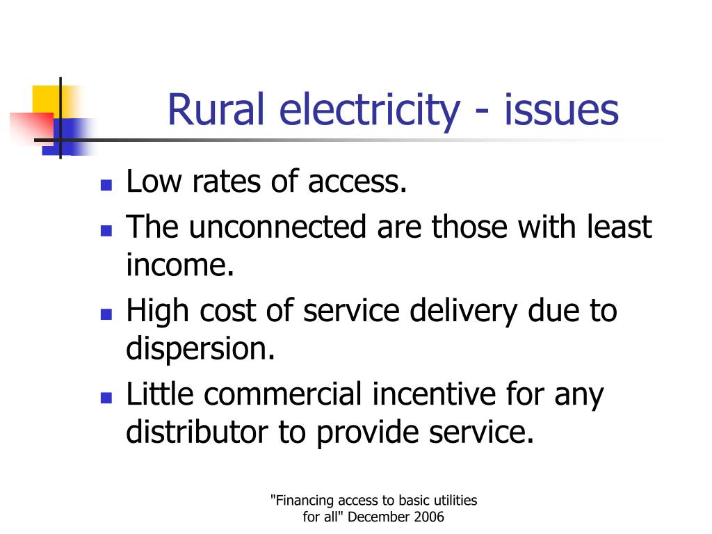 Rural electricity - issues