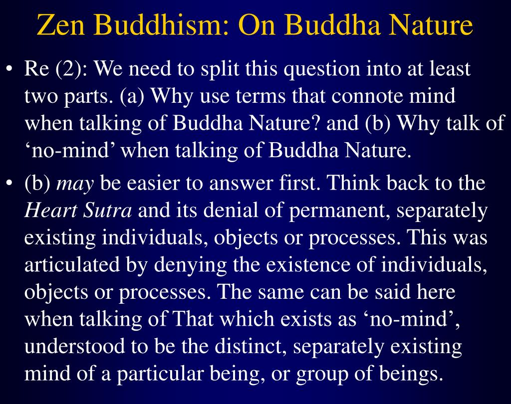 Zen Buddhism: On Buddha Nature