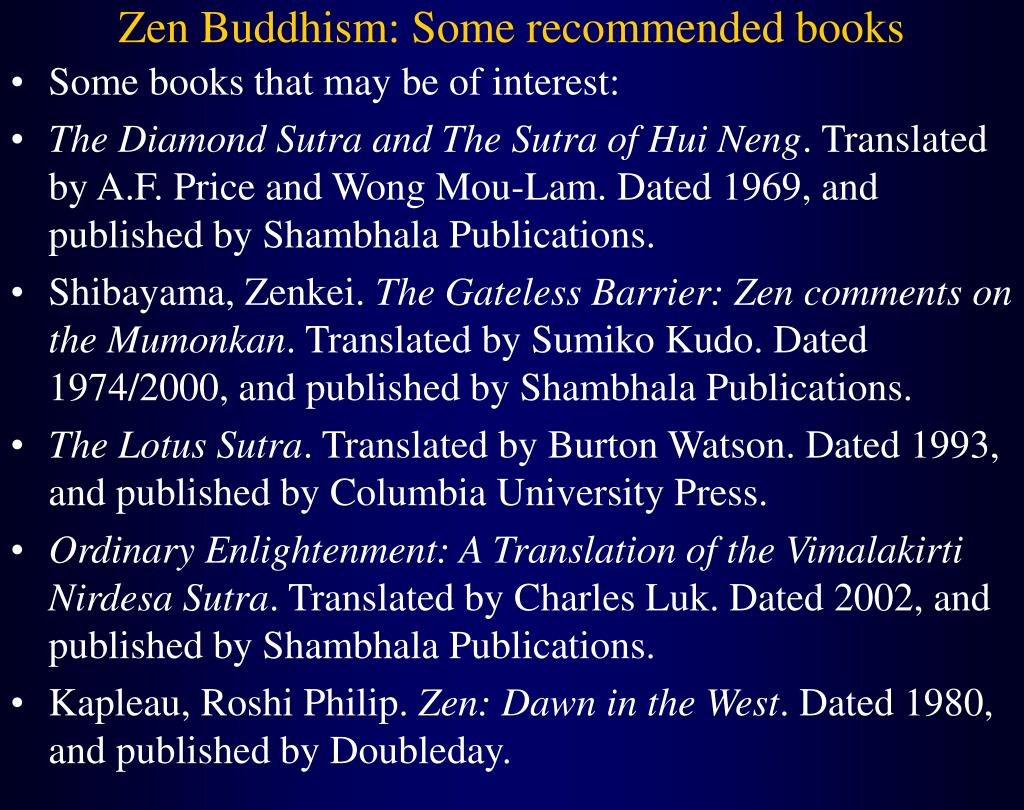 Zen Buddhism: Some recommended books