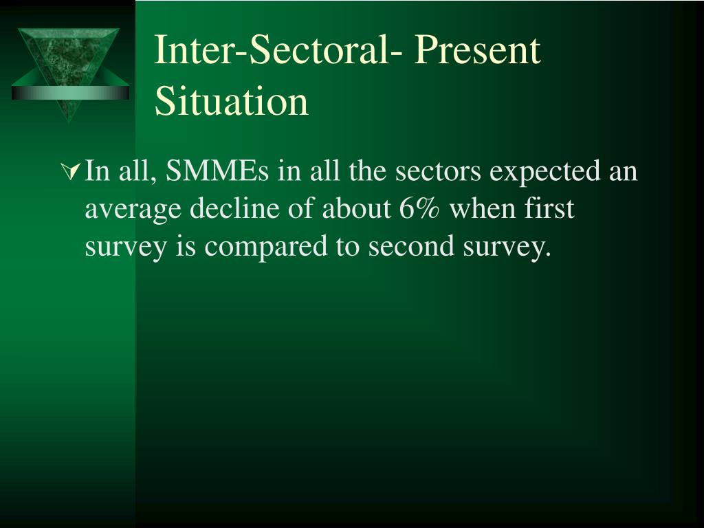 Inter-Sectoral- Present Situation