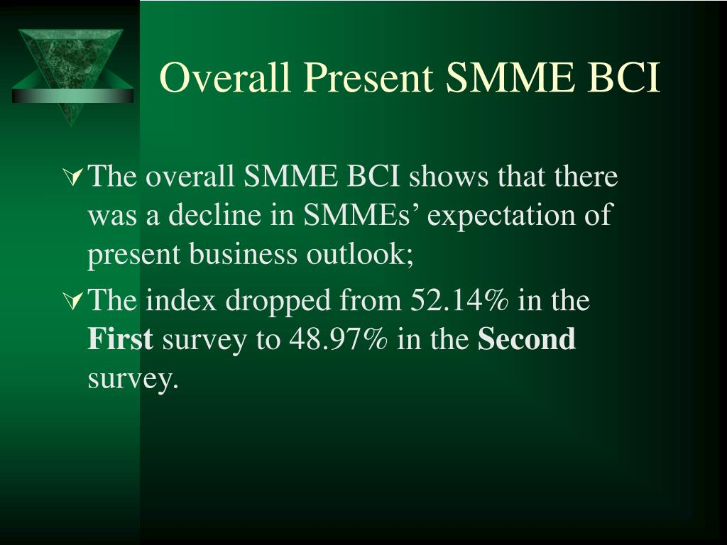 Overall Present SMME BCI