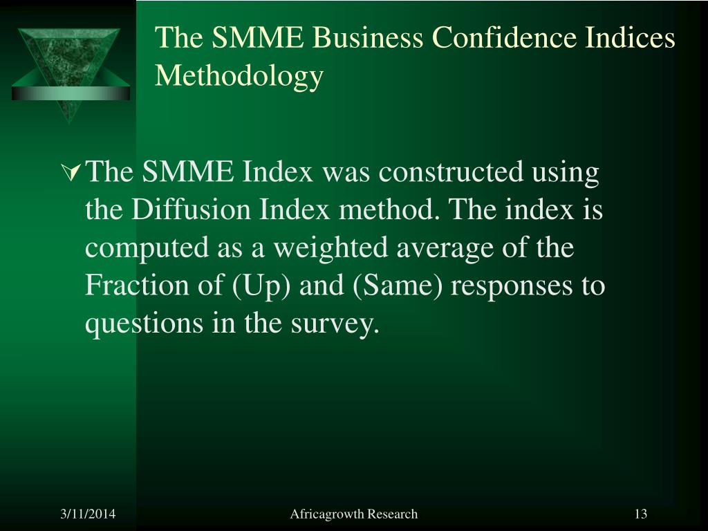 The SMME Business Confidence Indices