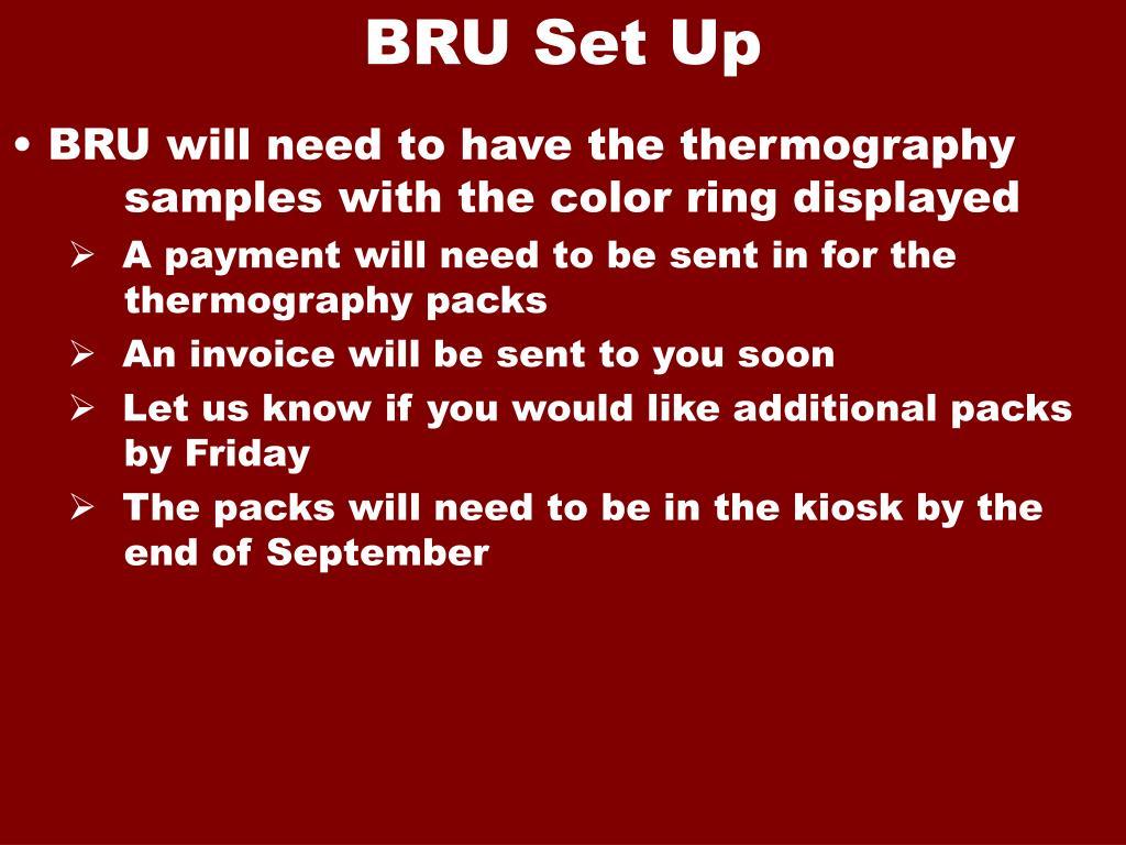 BRU Set Up