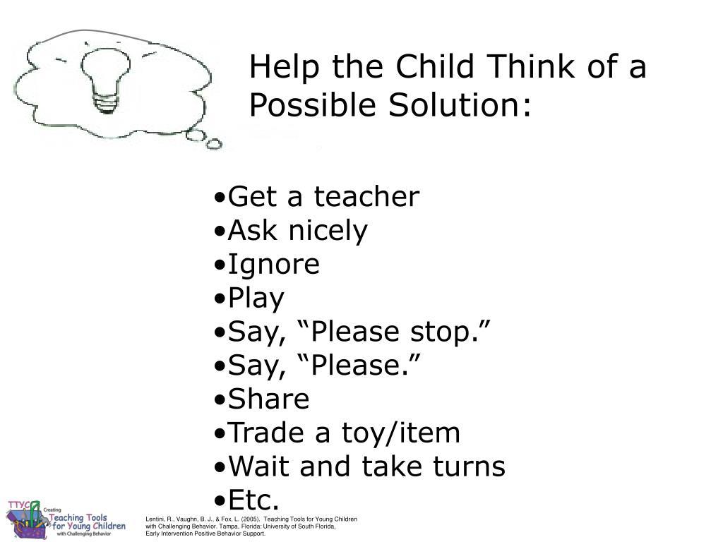 Lentini, R., Vaughn, B. J., & Fox, L. (2005).  Teaching Tools for Young Children