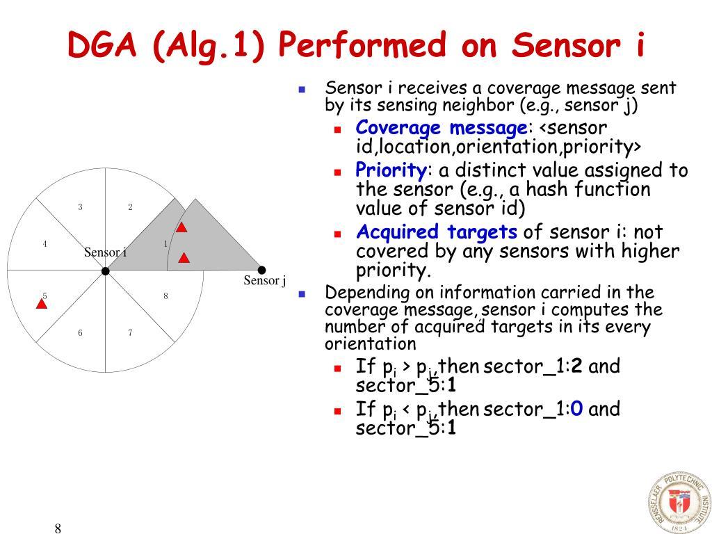 DGA (Alg.1) Performed on Sensor i