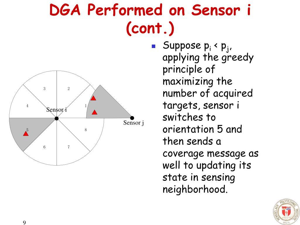 DGA Performed on Sensor i (cont.)