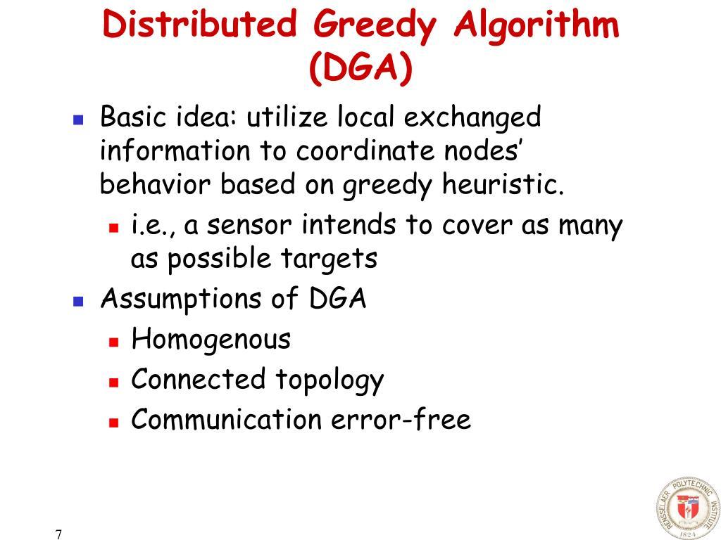 Distributed Greedy Algorithm (DGA)