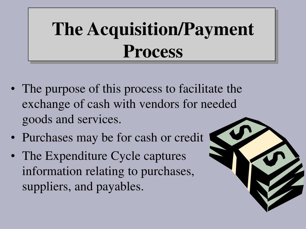 The purpose of this process to facilitate the exchange of cash with vendors for needed goods and services.