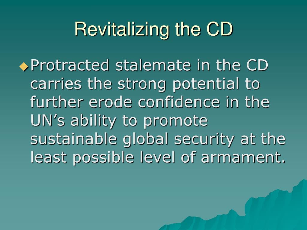 Revitalizing the CD