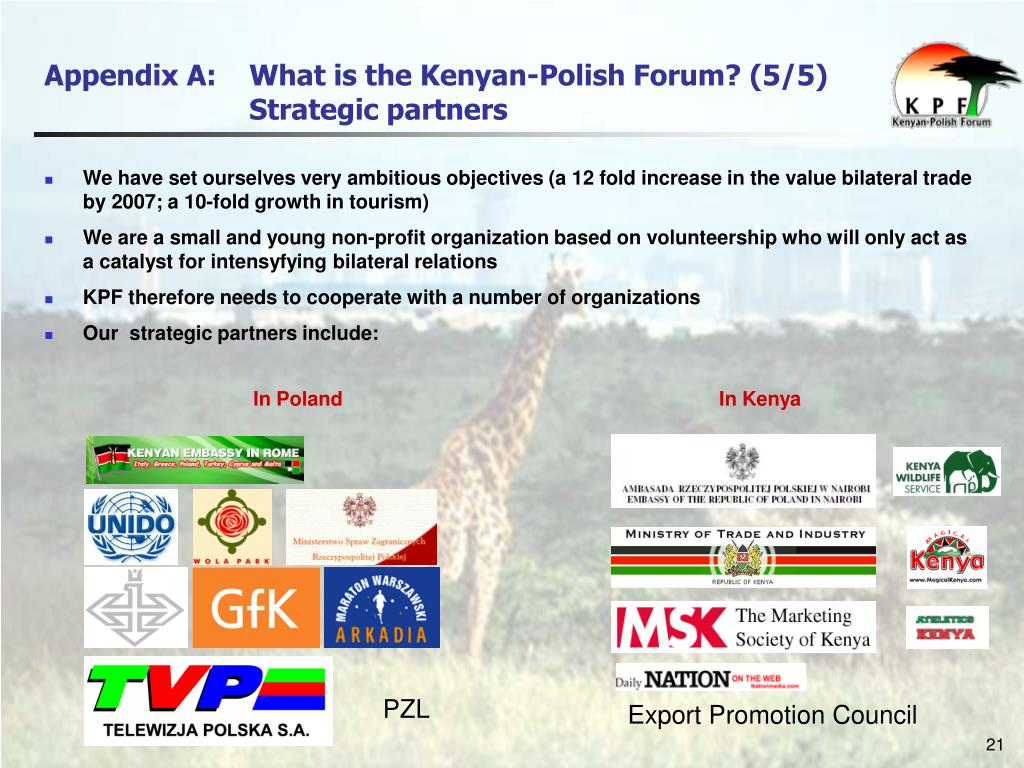 Appendix A: 	What is the Kenyan-Polish Forum? (5/5)