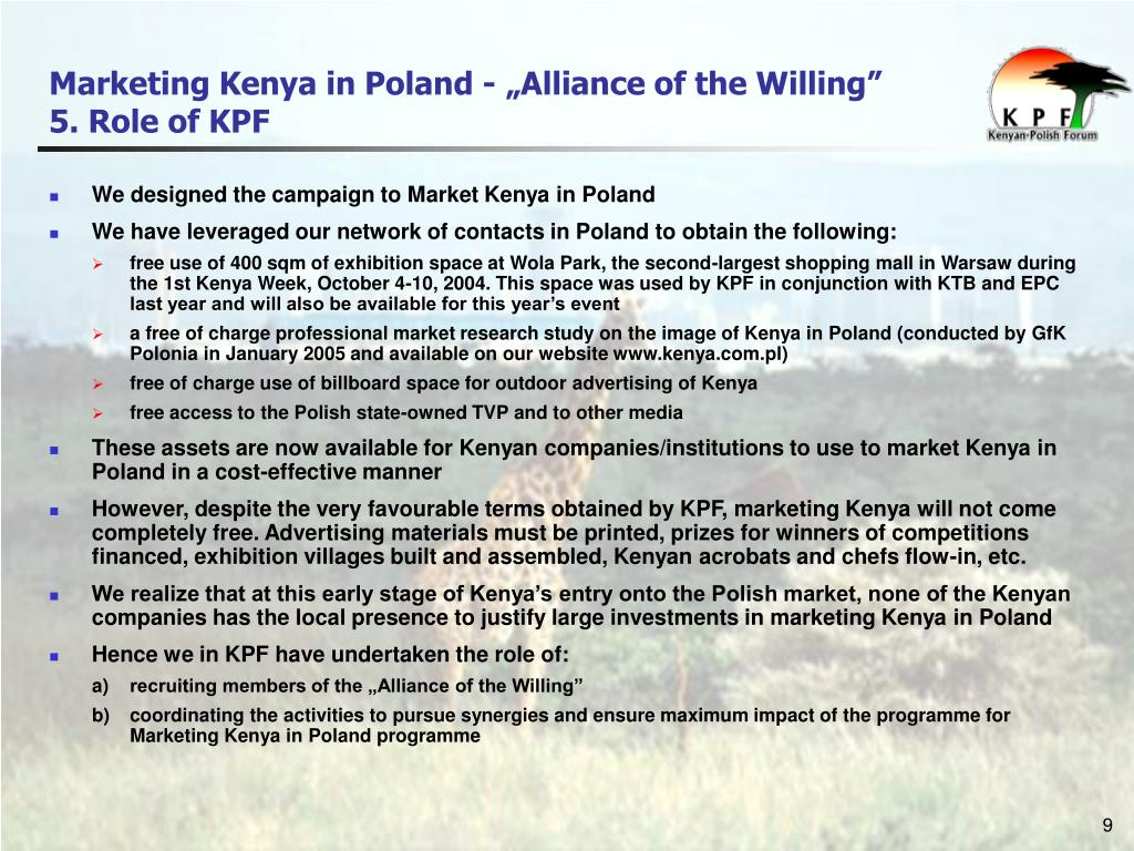 "Marketing Kenya in Poland - ""Alliance of the Willing"""