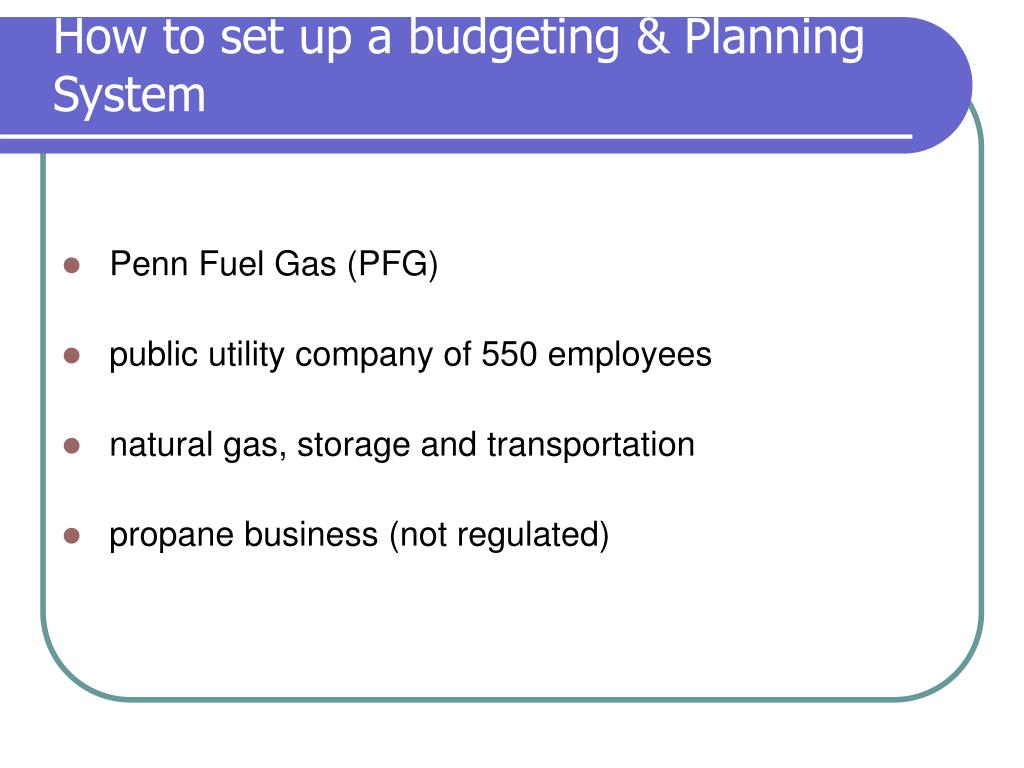How to set up a budgeting & Planning System