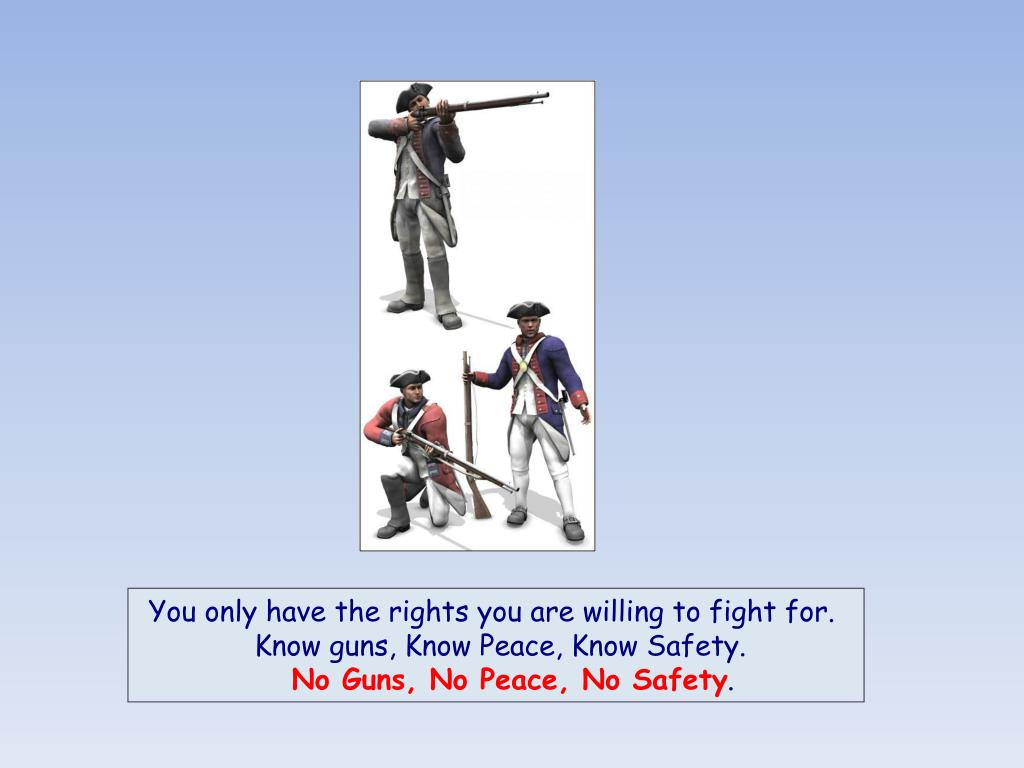 You only have the rights you are willing to fight for.