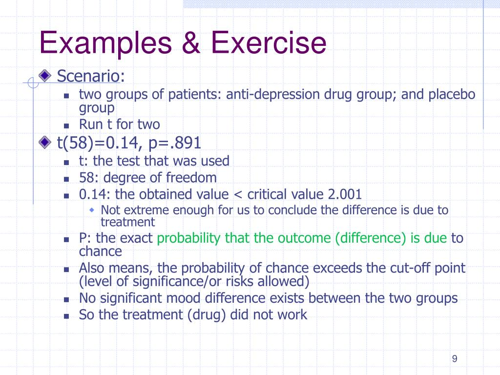 Examples & Exercise