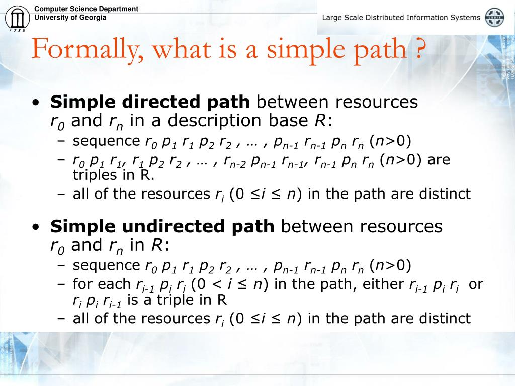Formally, what is a simple path ?