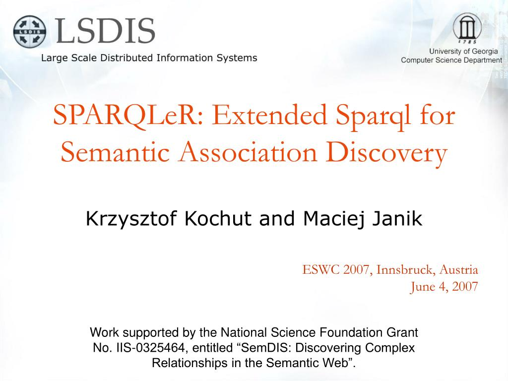 SPARQLeR: Extended Sparql for Semantic Association Discovery