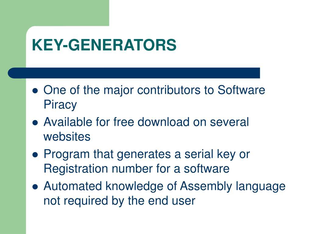 KEY-GENERATORS