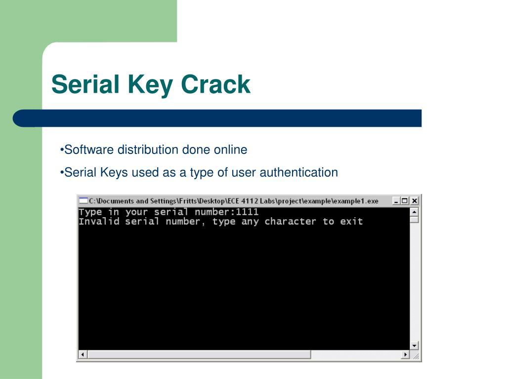 Serial Key Crack