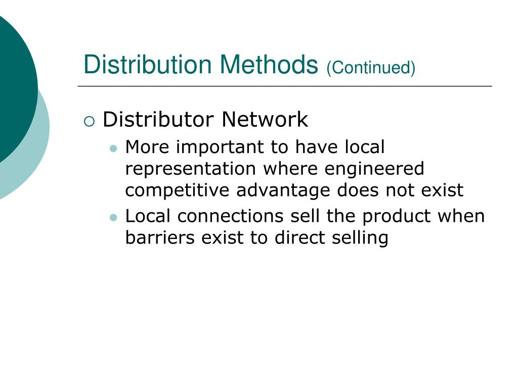 Distribution Methods
