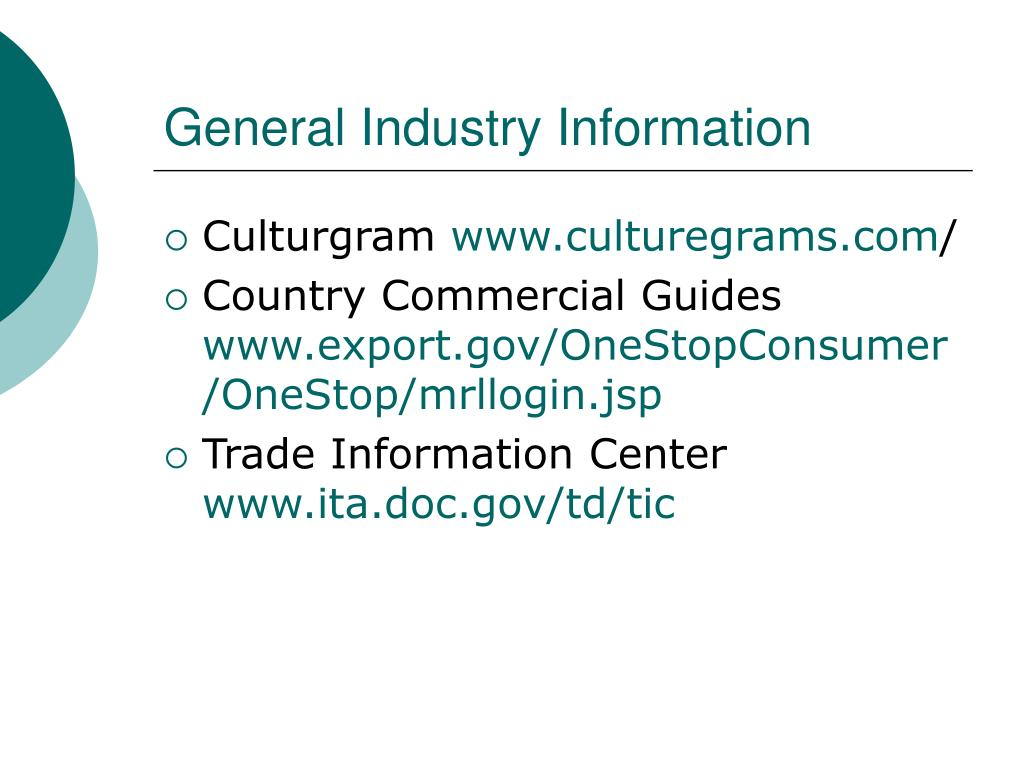 General Industry Information