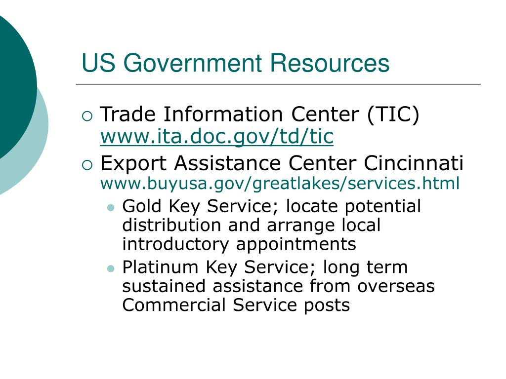 US Government Resources
