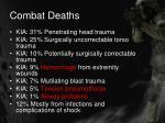 combat deaths