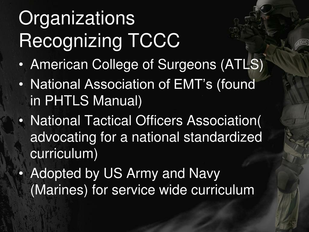 Organizations Recognizing TCCC
