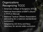 organizations recognizing tccc