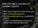 preventable causes of combat death