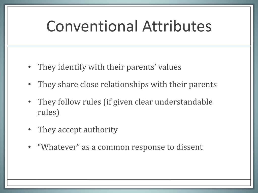 Conventional Attributes