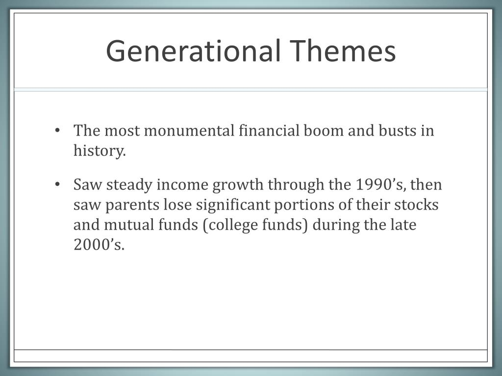 Generational Themes