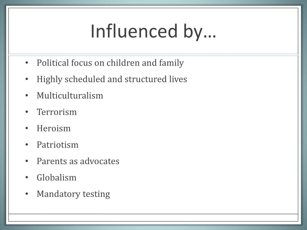 Influenced by…