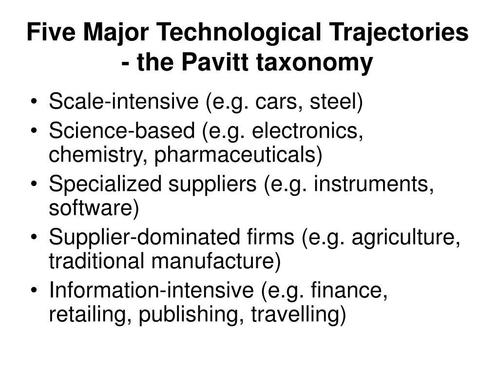 Five Major Technological Trajectories