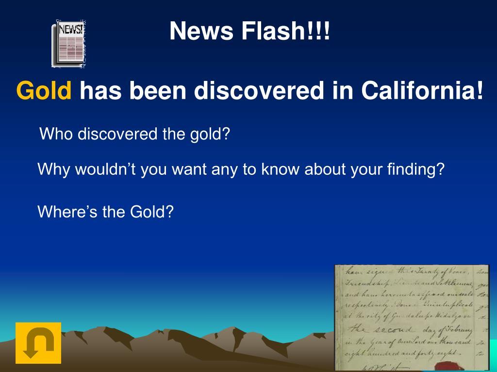 News Flash!!!