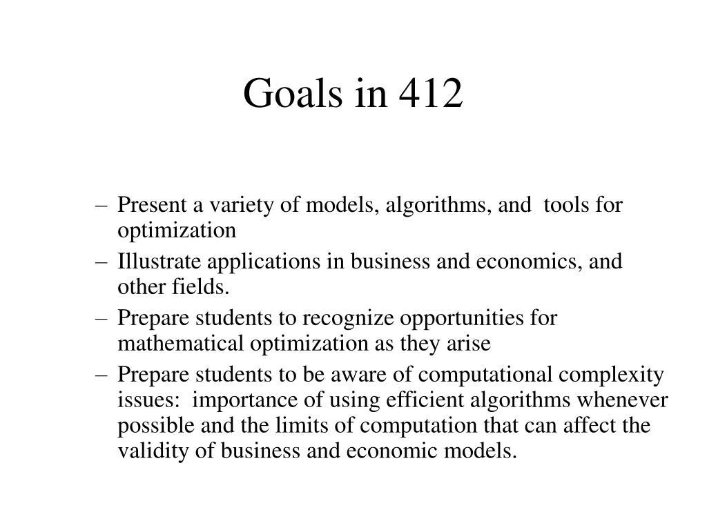 Goals in 412
