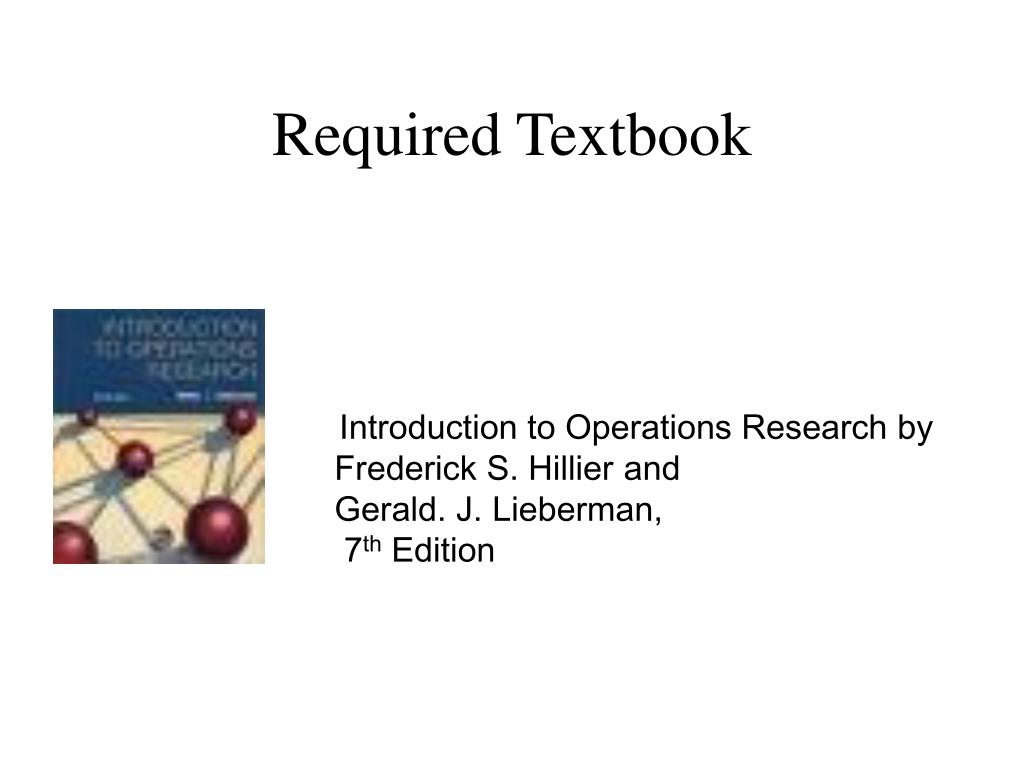 Required Textbook