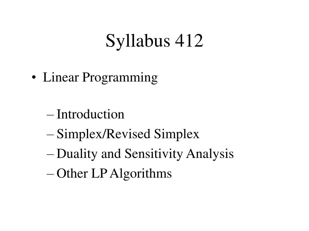 Syllabus 412