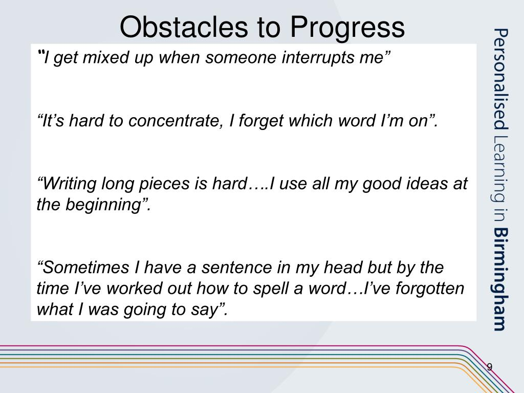 Obstacles to Progress