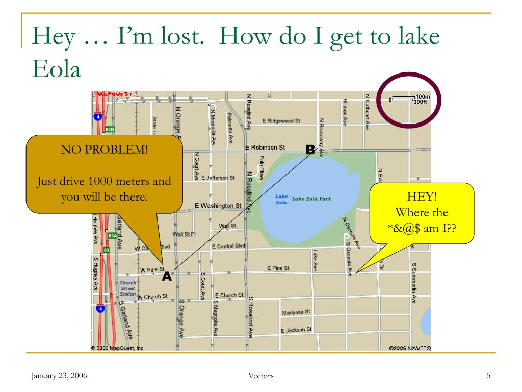 Hey … I'm lost.  How do I get to lake Eola