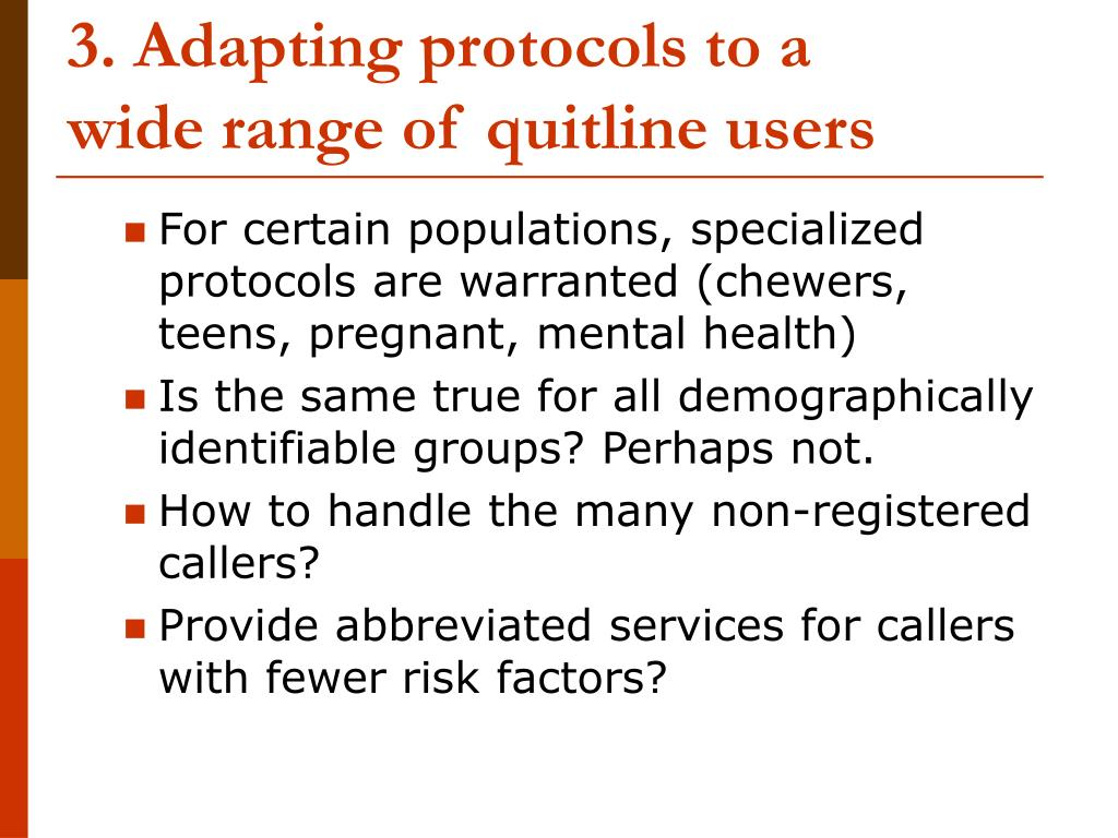 3. Adapting protocols to a