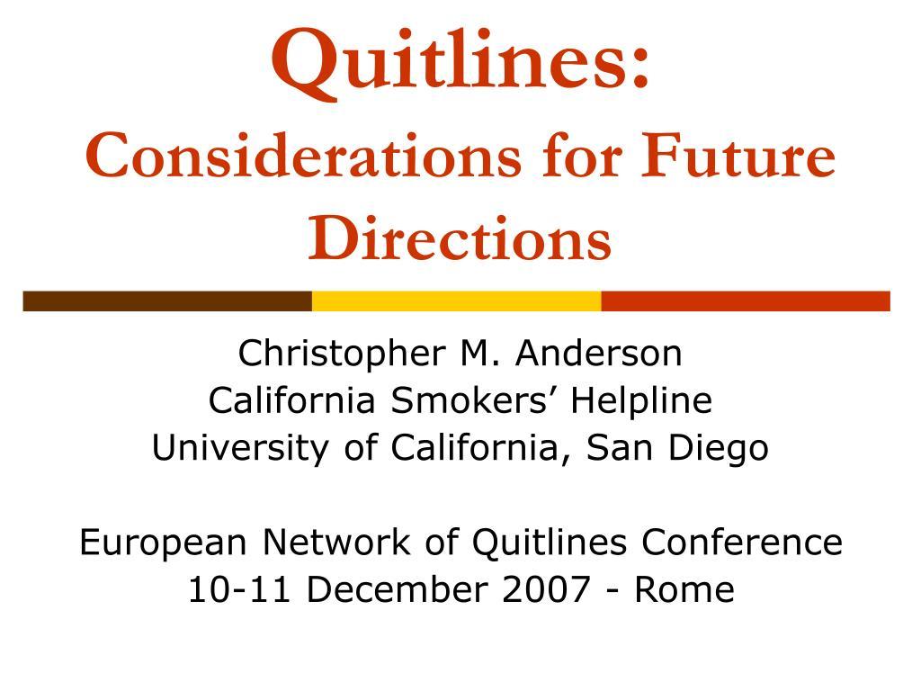 Quitlines: