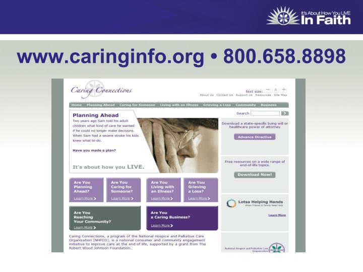 www.caringinfo.org • 800.658.8898
