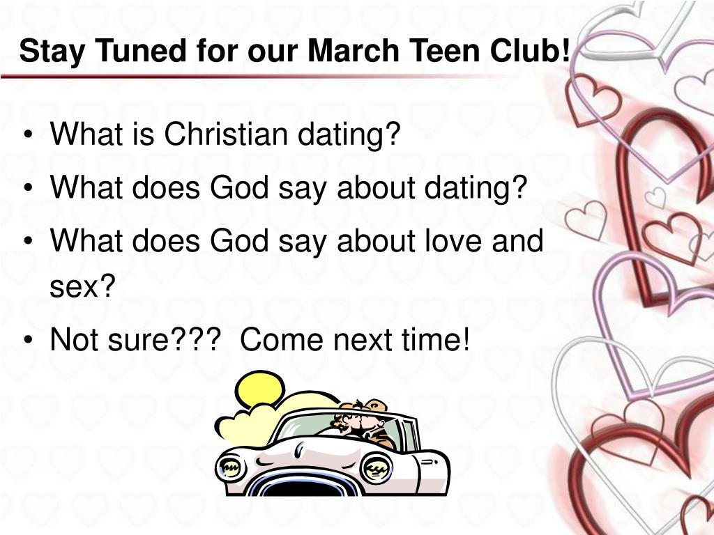 Stay Tuned for our March Teen Club!